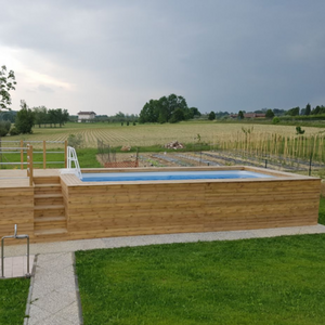 Rivestimenti in legno per piscina fuoriterra | aquazzura