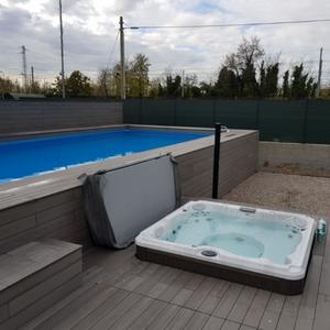 Rivestimenti in legno per piscina fuoriterra piscine da for Piscina per terrazzo