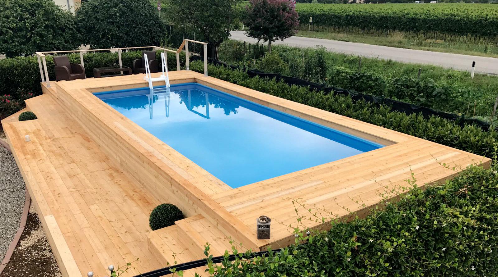 Piscine fuoriterra piscine da terrazzo e giardino for Piscine per giardino