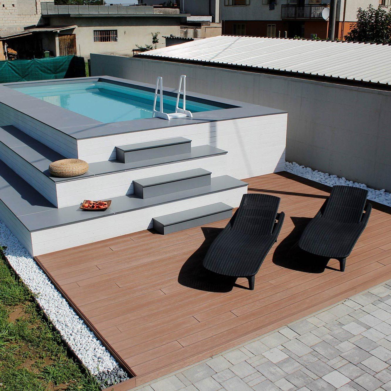 Piscine fuoriterra piscine da terrazzo e giardino jacuzzi interne ed esterne aquazzura - Realizzare una piscina ...
