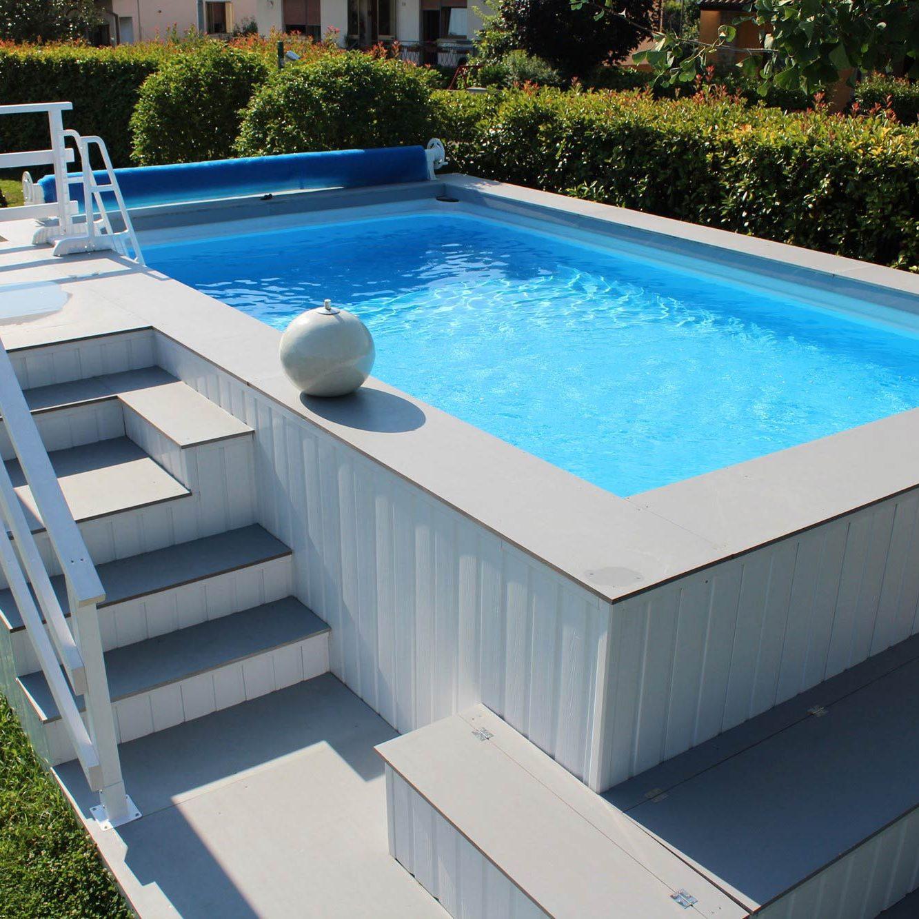 Piscine fuoriterra piscine da terrazzo e giardino - Aquazzura piscine ...
