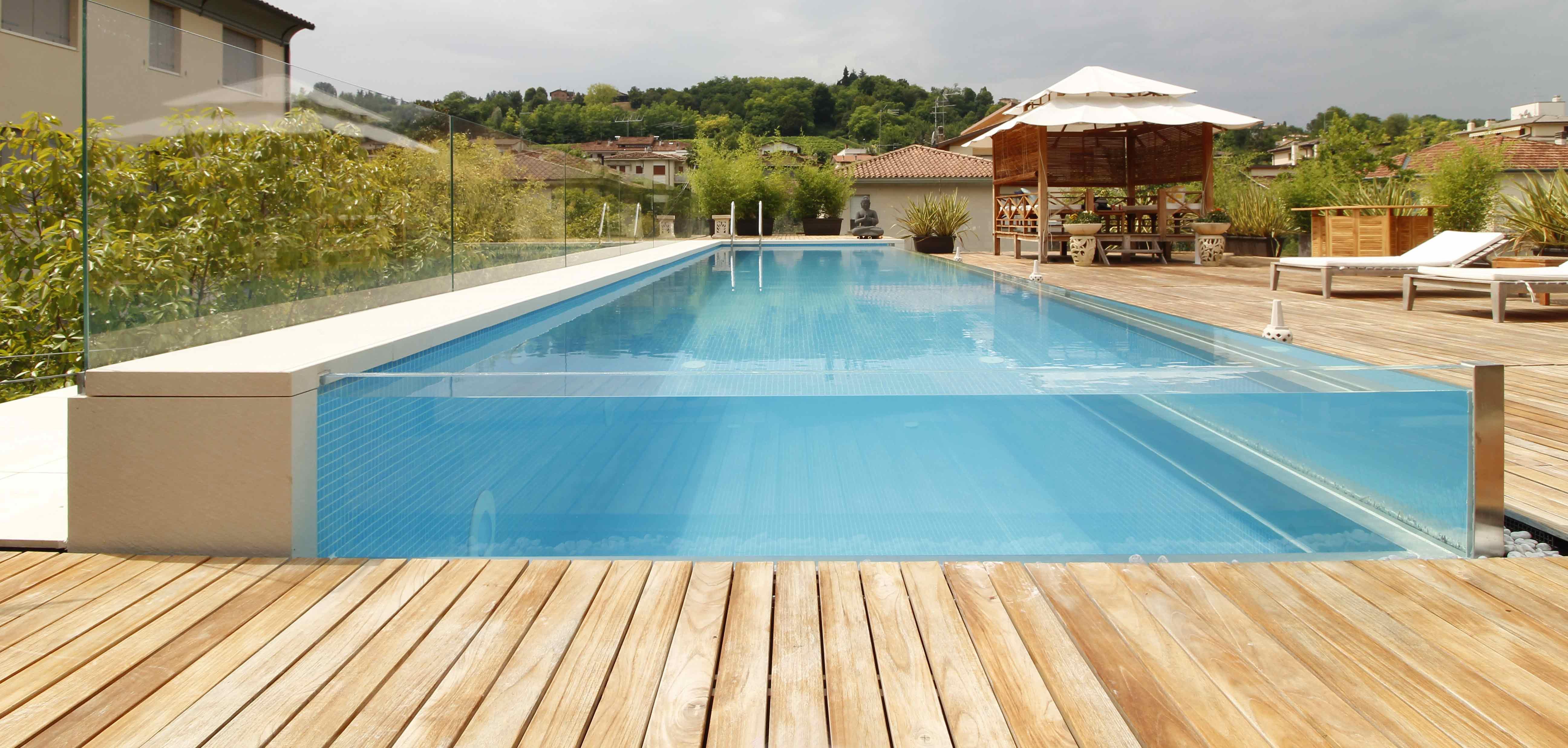 piscine a sfioro per giardino piscine da terrazzo e