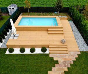 piscina fuoriterra in larice
