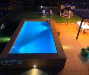 piscina fuori terra su terrazzo